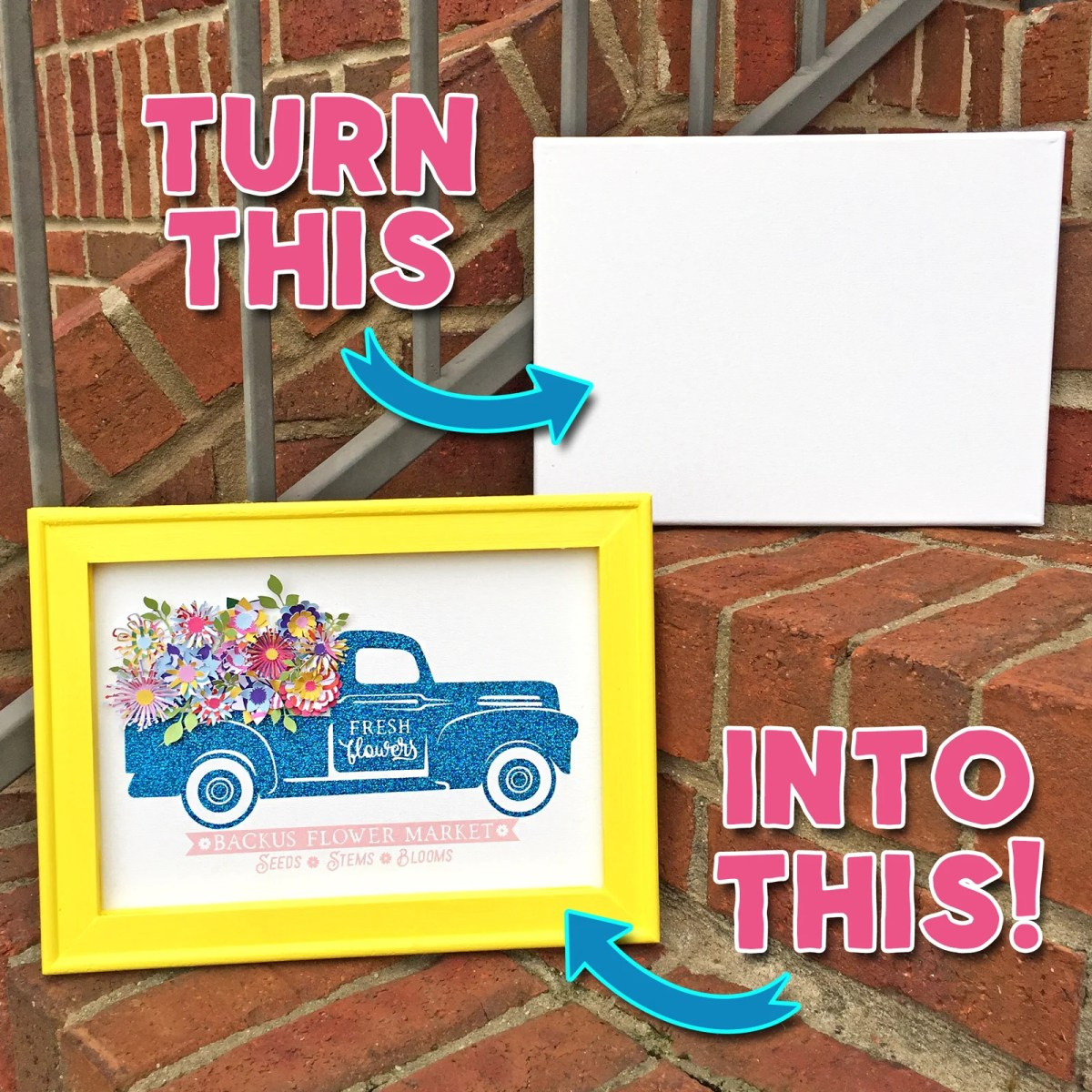 How to Make a Reverse Canvas: Easy & Inexpensive Framed Art!